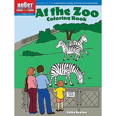 Dover® Boost™ At the Zoo Coloring Book