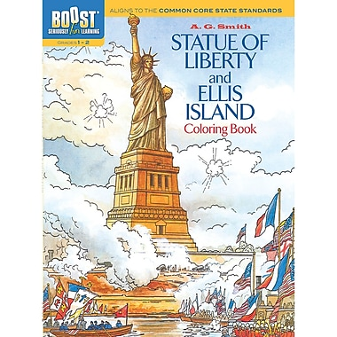 Dover® Boost™ Statue of Liberty And Ellis Island Coloring Book
