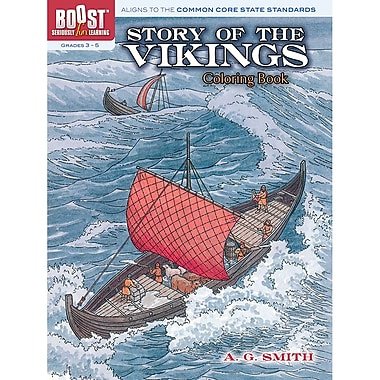 Dover® Boost™ Story of the Vikings Coloring Book
