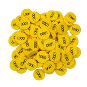 Essential Learning™ 100, 1000 Place Value Disks, Yellow