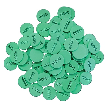 Essential Learning™ 10, 100, 1000 Place Value Disks, Green