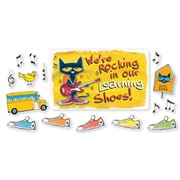 Edupress® Pete the Cat® Bulletin Board Set, We're Rocking in Our Learning Shoes