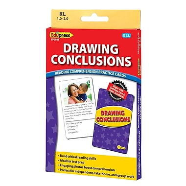 Edupress® Drawing Conclusions Reading Comprehension Practice Card, Yellow