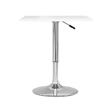 CorLiving DAW-610-T Adjustable Height Square Table in White