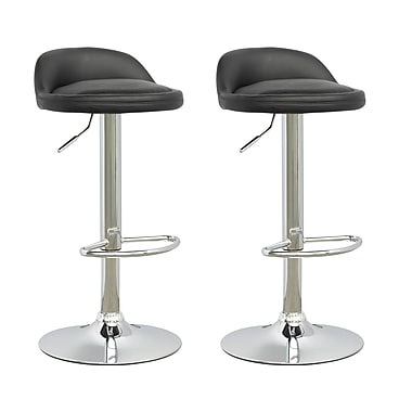 CorLiving Low Profile Adjustable Barstool, Set of 2