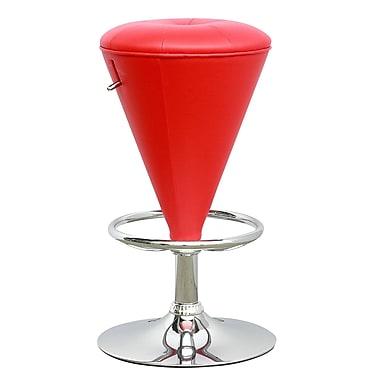 CorLiving – Tabouret en forme de cône ajustable, similicuir rouge, modèle DPU-555-B