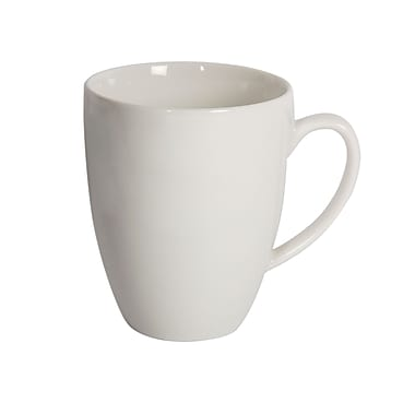 Maxwell & Williams White Basics Classic Coupe Mug, 12/Pack