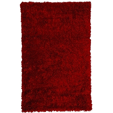 Lanart Bachata Area Rug, 5' x 7', Red