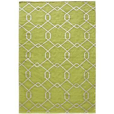 Lanart Diamond Flat Weave Area Rug, 3' x 5', Green