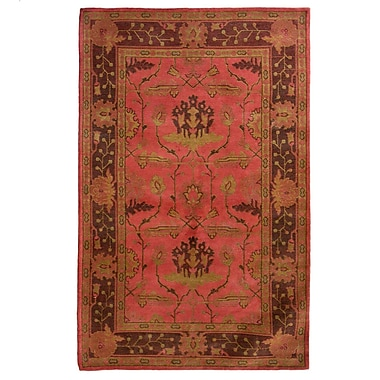 Lanart Medieval Area Rug, 5' x 8', Red