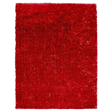 Lanart Metro Silk Area Rug, Red