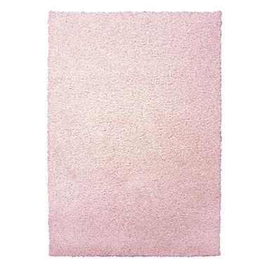 Lanart Modern Shag Area Rug, 6' x 8', Pink Blush