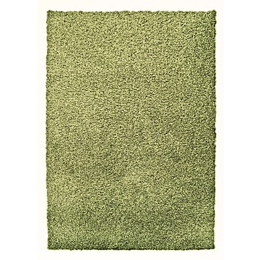 Lanart Modern Shag Area Rug, 6' x 8', Green Keylime