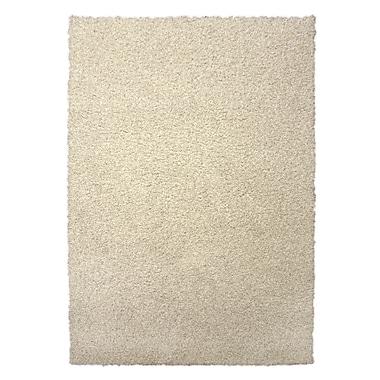 Lanart Modern Shag Area Rug, 6' x 8', Ivory