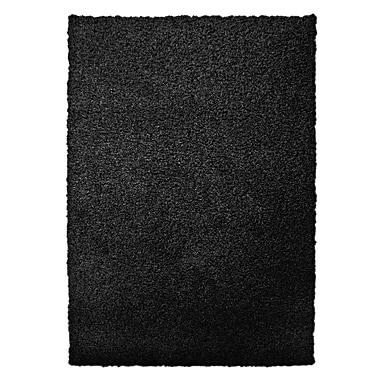 Lanart Modern Shag Area Rug, 5' x 7', Black