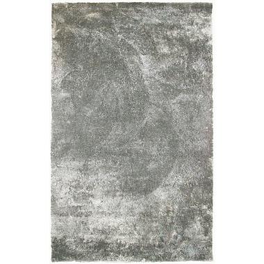 Lanart Fur Shag Area Rug, 6' x 9', Silver