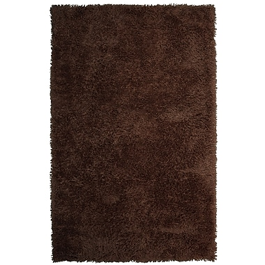 Lanart Soft Shag Area Rug, 5' x 8', Brown