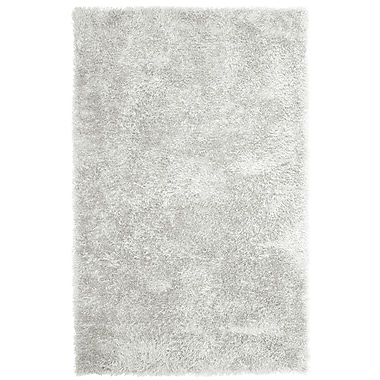 Lanart Soft Shag Area Rug, 6' x 9', White