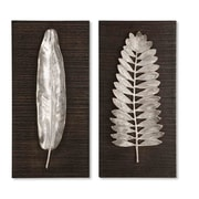 Uttermost 2-Piece Silver Leaves Wall Art
