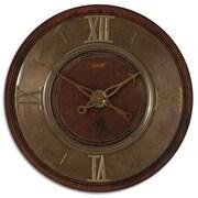 Uttermost 6002 1896 30 Wall Clock, Brown/Brass