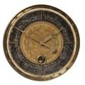 Uttermost Leonardo Script 18in. Wall Clock, Black