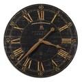 Uttermost 6029 Bond Street 18in. Wall Clock, Black