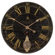 Uttermost 6030 Bond Street 30 Wall Clock, Black