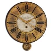 Uttermost 6034 Louis Leniel Wall Clock, Cream/Gold