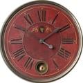Uttermost 6037 Regency Villa Tesio 23in. Wall Clock, Red