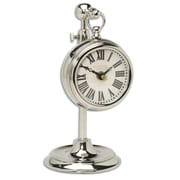 Uttermost Pocket Watch Nickel Marchant Table Clock, Cream