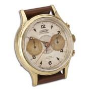 Uttermost 6072 Wristwatch Round Aureole Alarm Clock, White