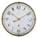 Uttermost 6091 Torriana Wall Clock, White/Gold