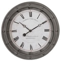 Uttermost 6092 Porthole Wall Clock, White/Gray