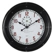 Uttermost 6095 Philly Wall Clock, White/Black