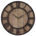 Uttermost 6344 Powell Wooden Wall Clock, Rustic Dark Bronze