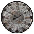 Uttermost 6643 Artemis Antique Wall Clock, Brushed Aluminum/Oil-Rubbed Bronze