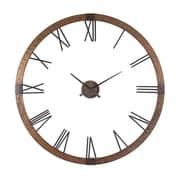 Uttermost 6655 Metal/Wood Analog Amarion Wall Clock, Brown