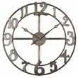 "Uttermost 6681 Delevan 32"" Metal Wall Clock, Burnished Silver Leaf"