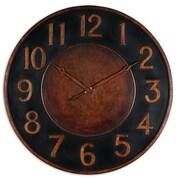 Uttermost 6691 Metal Analog Matera Wall Clock, Brown