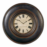 Uttermost 6724 Adonis 24 Wooden Wall Clock, Aged Ivory/Brown