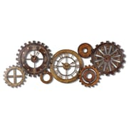Uttermost 6788 Spare Parts Wall Clock, Brown/Antiqued Gold/Silver