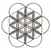 "Uttermost Baiano 30"" x 30"" x 2"" Metal Decorative Wall Mirror, Silver"