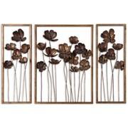 Uttermost Grace Feyock 3-Piece Metal Tulips Wall Art