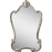 "Uttermost 36"" x 23"" x 2"" Walton Hall Metal Frame Mirror, Antique White/Charcoal/Light Gray"