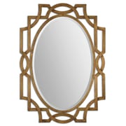 "Uttermost 41"" x 30"" x 1"" Margutta Metal Frame Mirror, Antiqued Gold Leaf"