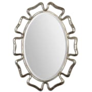 """Uttermost 37"""" x 28"""" x 2"""" Beccaria Metal Frame Mirror, Oxidized Plated Silver"""