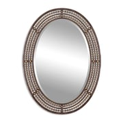 """Uttermost 34"""" x 24"""" x 1"""" Matney Metal Frame Mirror, Oil-Rubbed Bronze/Antiqued Gold"""