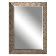 Uttermost 43 x 31 x 1 Yasmine Wooden Frame Mirror, Golden Champagne