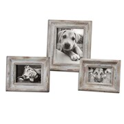 "Uttermost 3-Piece Niho Ivory Photo Frame Set, 14"" x 12"" x 2"""