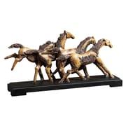 Uttermost Wild Horses Sculpture, Rustic Wood